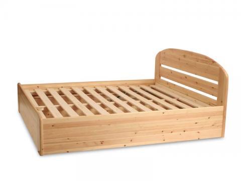 Anikó ágyneműtartós ágy 200x200, Kategória:Fenyő ágyak, Szélesség:200cm Hosszúság:200cm Magasság:cm