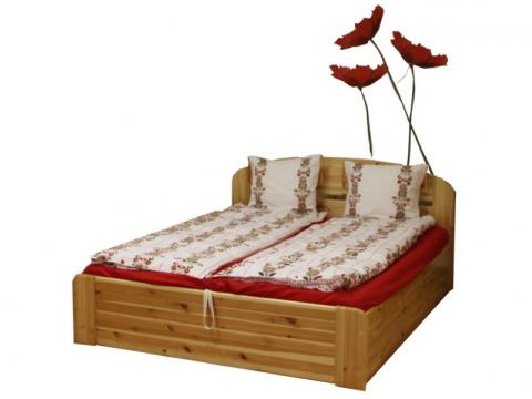 Anikó ágyneműtartós ágy 200x200, Kategória:Fenyő ágyak, Szélesség:200cm Hosszúság:200cm Magasság:90cm