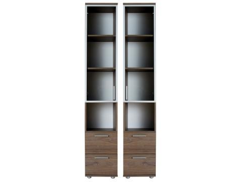 Box BO-3Ü-B/J üvegajtós félszekrény, Kategória:Szekrények, Szélesség:36cm Hosszúság:40cm Magasság:196cm