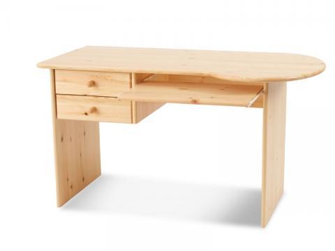 Claudia 2 fiókos computer asztal, Kategória:Egyéb bútorok, Szélesség:74cm Hosszúság:135cm Magasság:72cm