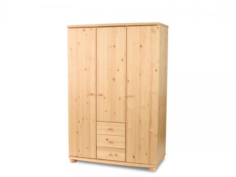 Claudia 3 ajtós, 3 fiókos nagyszekrény, Kategória:Fenyő szekrények, Szélesség:180cm Hosszúság:120cm Magasság:62cm
