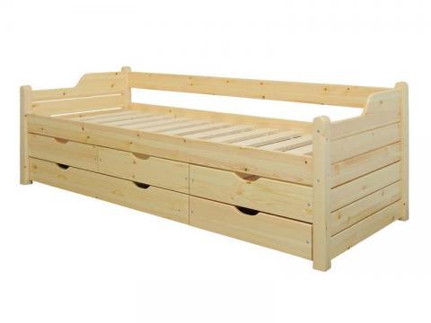 Claudia 5 fiókos ágykeret 80x200, Kategória:Kanapéágyak, Szélesség:80cm Hosszúság:200cm Magasság:cm
