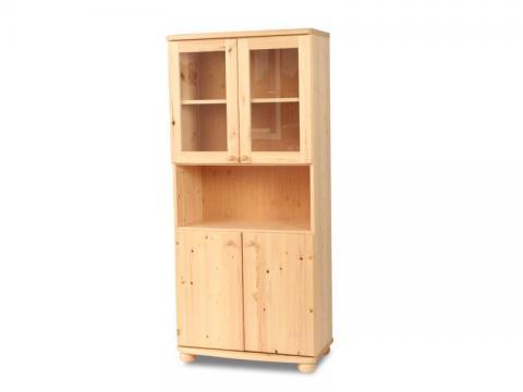 Claudia vitrines, nyitott szekrény, Kategória:Fenyő szekrények, Szélesség:180cm Hosszúság:80cm Magasság:45cm