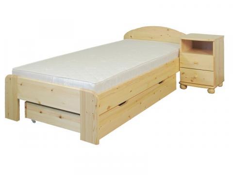 Éva ágykeret 90x200, Kategória:Fenyő ágyak, Szélesség:90cm Hosszúság:200cm Magasság:cm