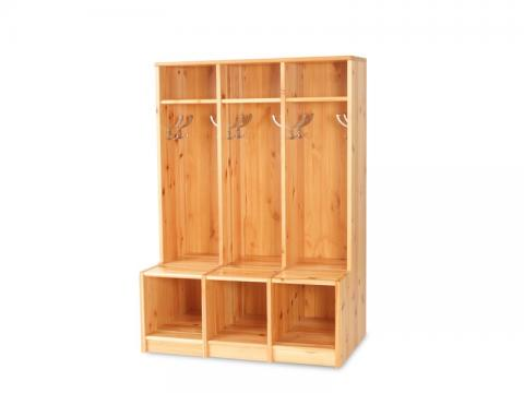 Éva öltözőszekrény, Kategória:Fenyő szekrények, Szélesség:141cm Hosszúság:100cm Magasság:50cm