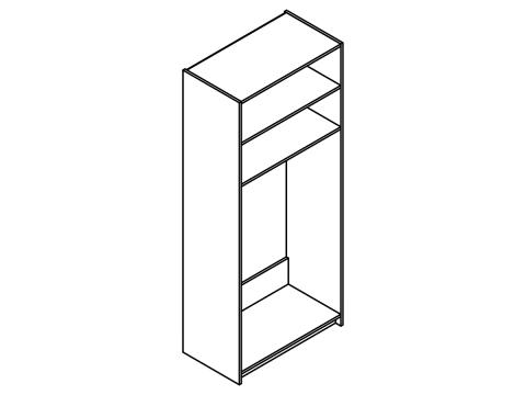 Idill ID-24 akasztós tükrös szekrény, Kategória:Szekrények, Szélesség:92cm Hosszúság:52cm Magasság:217cm