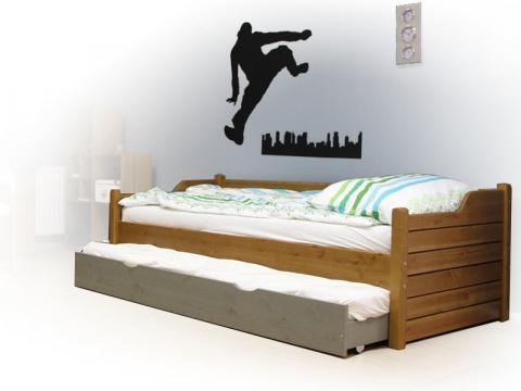 Leo ágykeret vendégágyas, Kategória:Kanapéágyak, Szélesség:90cm Hosszúság:200cm Magasság:cm
