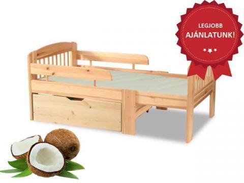 Leo gyerekágy minőségi kókuszmatraccal és ágyneműtartóval, Kategória:Gyerekágyak, Szélesség:cm Hosszúság:cm Magasság:cm
