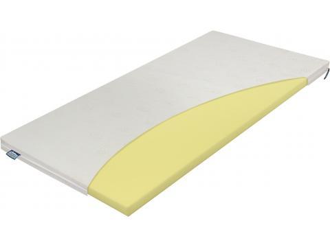 Materasso Top Termopur - Latex 6 fix huzatos felületjavító 120x200 cm topper, Kategória:Fedőmatracok, Szélesség:120cm Hosszúság:200cm Magasság:6cm