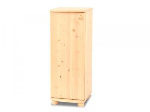Anikó 1 ajtós keskeny komód, Kategória:Fenyő komódok és éjjeliszekrények, Szélesség:40cm Hosszúság:45cm Magasság:110cm