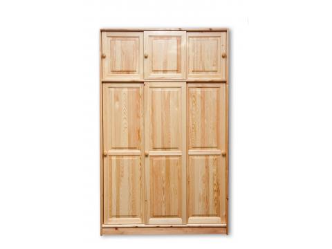 3 tolóajtós válaszfalas szekrény, Kategória:Fenyő szekrények, Szélesség:135cm Hosszúság:61cm Magasság:215cm