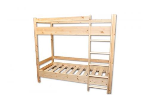 90x200 natúr bükk emeletes ágy, Kategória:Emeletes és galériaágyak, Szélesség:90cm Hosszúság:200cm Magasság:160cm