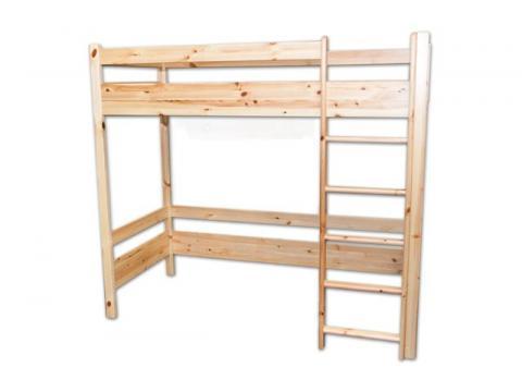 90x200 natúr bükk galériás ágy, Kategória:Emeletes és galériaágyak, Szélesség:90cm Hosszúság:200cm Magasság:160cm