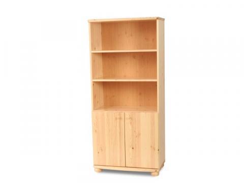 Claudia 2 ajtós, nyitott polcos szekrény, Kategória:Fenyő szekrények, Szélesség:80cm Hosszúság:45cm Magasság:180cm