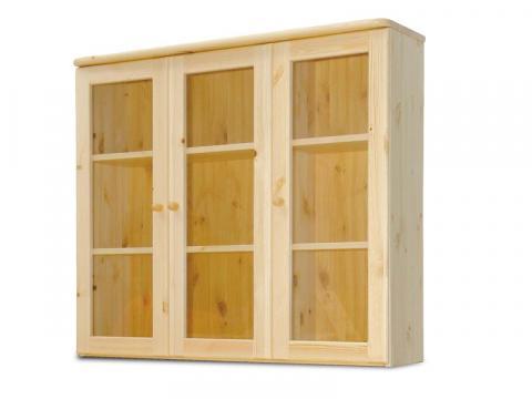 Claudia 3 ajtós üveges felsőelem, Kategória:Egyéb bútorok, Szélesség:103cm Hosszúság:120cm Magasság:35cm