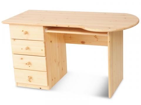 Claudia 4 fiókos computer asztal, Kategória:Egyéb bútorok, Szélesség:135cm Hosszúság:72cm Magasság:74cm