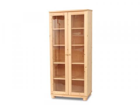 Claudia nagyvitrines szekrény, Kategória:Fenyő szekrények, Szélesség:80cm Hosszúság:45cm Magasság:180cm