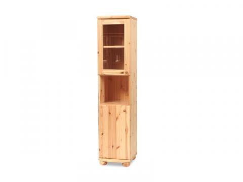 Claudia vitrines, nyitott, keskeny szekrény, Kategória:Fenyő szekrények, Szélesség:40cm Hosszúság:45cm Magasság:180cm