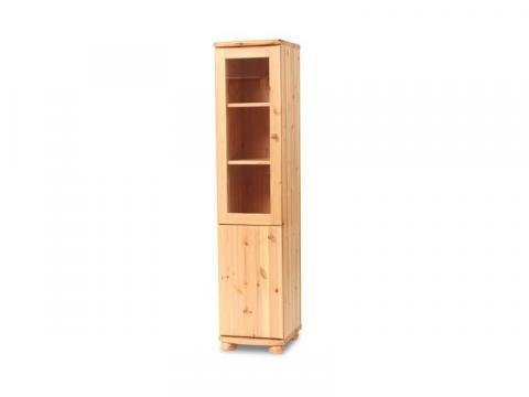 Claudia vitrines, teli, keskeny szekrény, Kategória:Fenyő szekrények, Szélesség:40cm Hosszúság:45cm Magasság:180cm