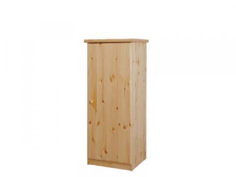 Csanád 1 ajtó magas keskeny natúr fenyő komód, Kategória:Fenyő komódok és éjjeliszekrények, Szélesség:53cm Hosszúság:49cm Magasság:128cm
