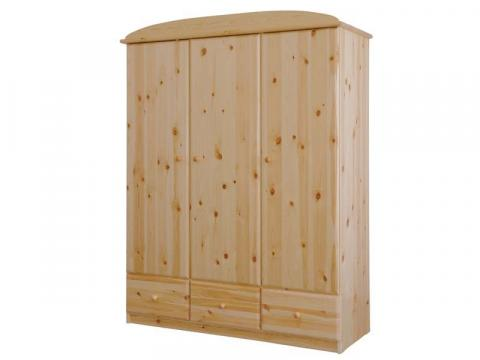 Csanád 3ajtós + 3fiókos szekrény, Kategória:Fenyő szekrények, Szélesség:151cm Hosszúság:56cm Magasság:194cm