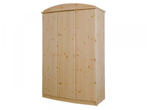 Csanád 3ajtós íves szekrény, Kategória:Fenyő szekrények, Szélesség:130cm Hosszúság:62cm Magasság:194cm