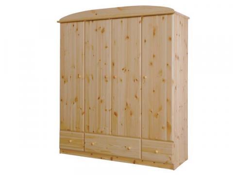 Csanád 4ajtós + 3fiókos szekrény, Kategória:Fenyő szekrények, Szélesség:171cm Hosszúság:56cm Magasság:194cm