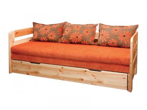 Lilla natúr bükk kanapéágy, Kategória:Kanapéágyak, Szélesség:200cm Hosszúság:80cm Magasság:74cm