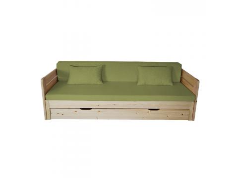 Vanessa kihúzható ágyra Lux Fűzöld, Kategória:Szivacs matracok, Szélesség:80cm Hosszúság:200cm Magasság:8cm