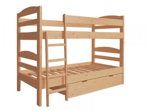 Zénó emeletes ágy, Kategória:Emeletes és galériaágyak, Szélesség:90cm Hosszúság:200cm Magasság:165cm