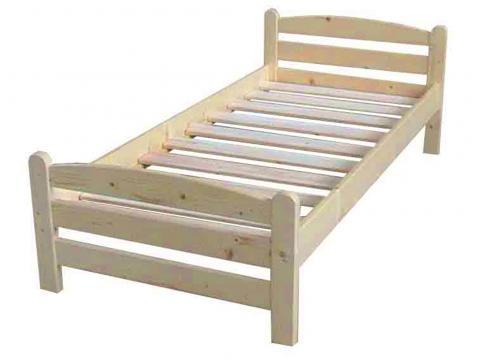 Raul 90x200 natúr fenyő ágykeret, Kategória:Fenyő ágyak, Szélesség:90cm Hosszúság:200cm Magasság:cm