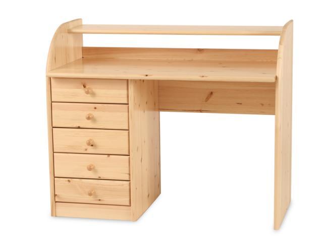 Andi 5 fiókos íróasztal, Kategória:Egyéb bútorok, Szélesség:95cm Hosszúság:115cm Magasság:59cm