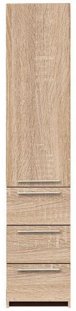 Idill ID-26-B/J polcos, fiókos szekrény, Kategória:Szekrények, Szélesség:46cm Hosszúság:52cm Magasság:217cm