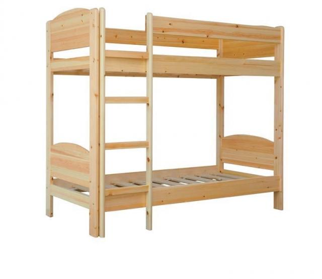 Henrik 90x200 natúr fenyő emeletes ágy, Kategória:Emeletes és galériaágyak, Szélesség:90cm Hosszúság:200cm Magasság:182cm